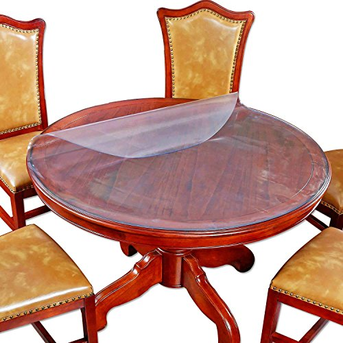 large frosted round dining table protector furniture tabletop protective cover plastic. Black Bedroom Furniture Sets. Home Design Ideas