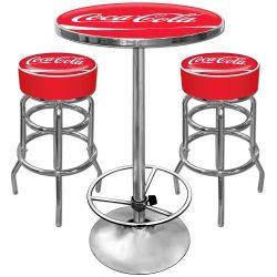 Coca-Cola Ultimate Gameroom Combo – 2 Bar Stools & Pub Table