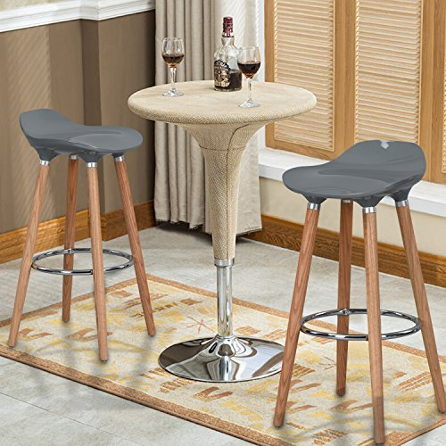 WOHOMO Kitchen Counter Height Bar Stools 32 Inches Grey