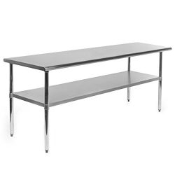 Gridmann Stainless Steel Commercial Kitchen Prep & Work Table – 72 in. x 24 in.