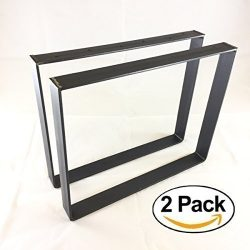 2 Pack – (2″ Wide – 1/4″ Thick Metal) (Size Range: 8-25″ L x 8-25& ...