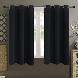 Alice Brown Solid Thermal Insulated Blackout Window Curtains/Draperies/Panels for Bedroom/Living ...