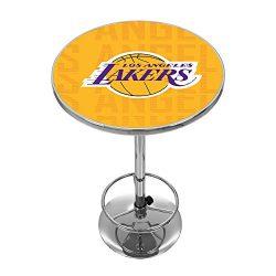 Trademark Gameroom NBA2000-LAL3 NBA Chrome Pub Table – City – Los Angeles Lakers