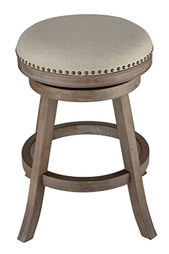 Cortesi Home Sadie Backless Swivel Counter Stool In Solid