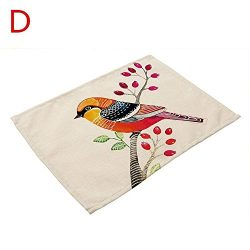 MalaRun Tablecloths Style Insulation Placemat Coaster Dinner Bowls Accessories Cotton Made Dinin ...