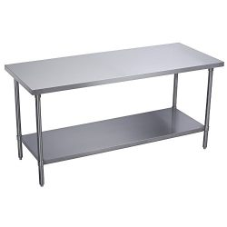 Apex Worktable Stainless Steel Food Prep 24″ x 12″ x 34″ Height – Commer ...