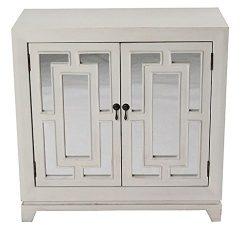 HomeRoots Kitchen Geo 2-Door Sideboard w/Mirror Inserts