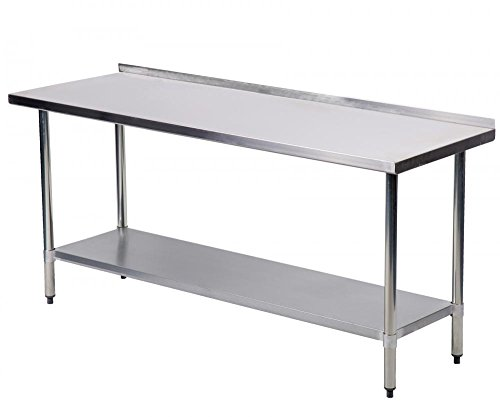 24 X 60 Inch Stainless Steel Work Table With Backsplash