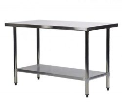 Commercial Kitchen Restaurant Stainless Steel Work Table, 24 X 48 Inchs
