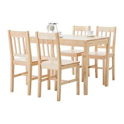 Mecor 5 Piece Dining Table Set 4 Wood Chairs Kitchen Room Furniture