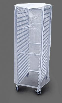 New Star Foodservice 36565 Commercial Sheet Pan Rack Cover, PVC, 20-Tier, 28 x 23 x 61 inch, Clear
