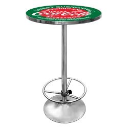 Coca-Cola Red and Green Chrome Pub Table