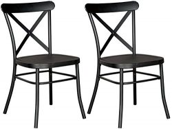 Signature Design by Ashley D400-102 Minnona Dining-Chairs, Black