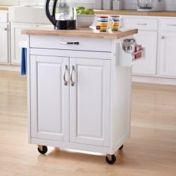 Kitchen Cart Rolling Island Storage Unit Cabinet Utility Portable Home Microwave Wheels Butcher  ...