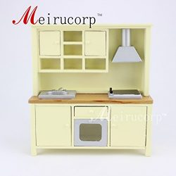 Fine Dollhouse 1/12 Scale Miniature furniture beautiful Kitchen cabinet cooking bench