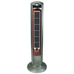 Lasko Wind Curve Fan with Fresh Air Ionizer, 42-Inch, Woodgrain (2554)