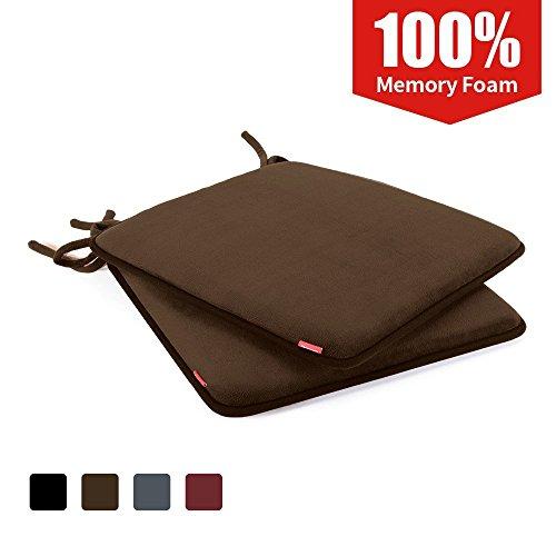 Shinnwa Dining Chair Pads 2 Pack Non Slip Memory Foam