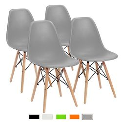 Furmax Pre Assembled Modern Style Dining Chair Pre Assembled White Eames Effiel Modern DSW Chair ...