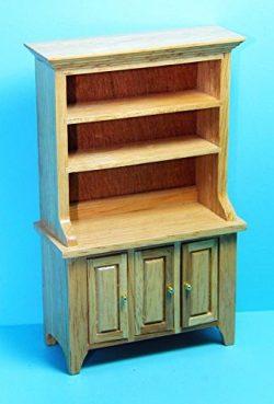 Dollhouse Miniature Kitchen Dining Room Hutch in Oak CLA – My Mini Fairy Garden Dollhouse  ...