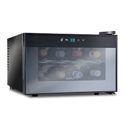 Ivation 8 Bottle Countertop Thermoelectric Wine Cooler/Chiller Red & White Wine Cellar with  ...