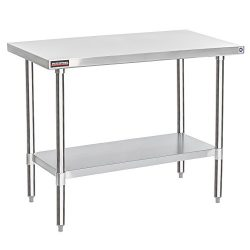 Apex Worktable Stainless Steel Food Prep 24″ x 48″ x 34″ Height – Commer ...