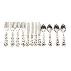BetterUS 1/12 Scale Mini Fork Spoon Knife Set Metal Tableware Dollhouse Kitchen Furniture Supply ...
