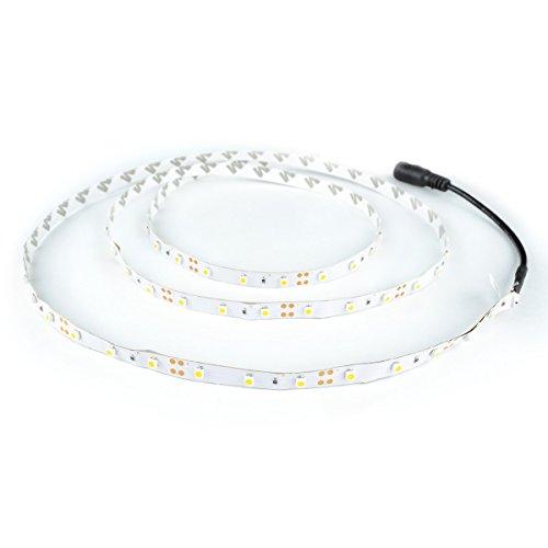 3528 Red LED Light Strip – 300 LEDs, 72 Lumens & 1.3 Watts per Foot, 12V DC, Adhesive  ...
