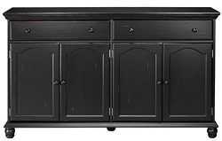 Harwick Black Credenza Sideboard Buffet Table 35″H x 60″W x 16″D, 60″W,  ...