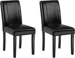 AmazonBasics Padded Dining Chair – Set of 2, Black