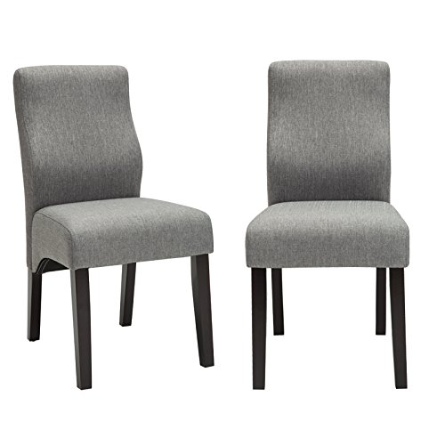 andeworld set of 2 upholstered dining chairs low back. Black Bedroom Furniture Sets. Home Design Ideas
