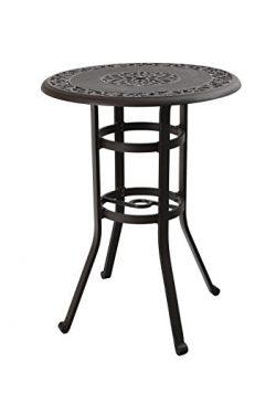 PHI VILLA 32″ Cast Aluminum Pub Height Bistro Round Table for Oudoor Paito – 41̸ ...