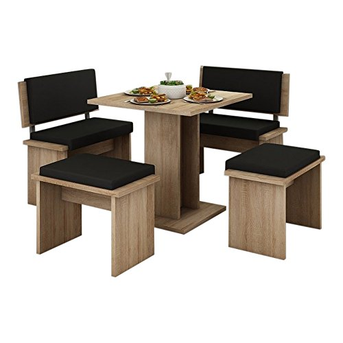 MEBLE FURNITURE & RUGS 5 Pc Breakfast Kitchen Nook Table