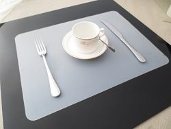 Clest F&H Heat-resistant 11.8″ x 17.1″ Silicone Placemats Washable Non-slip Insu ...