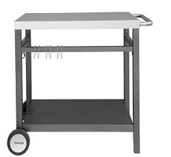 Royal Gourmet Double-shelf Movable Dining Cart Table,Commercial Multifunctional Stainless Steel  ...