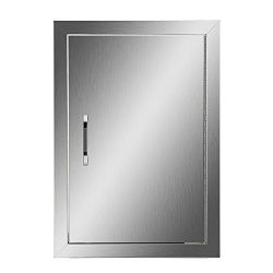 Happybuy BBQ Access Door Double Wall Construction Cutout 14W x 20H In. BBQ Island/Outdoor Kitche ...