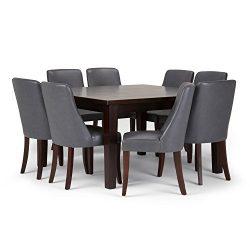 Simpli Home AXCDS9WA-STG Walden 9 Piece Dining Set, Stone Grey
