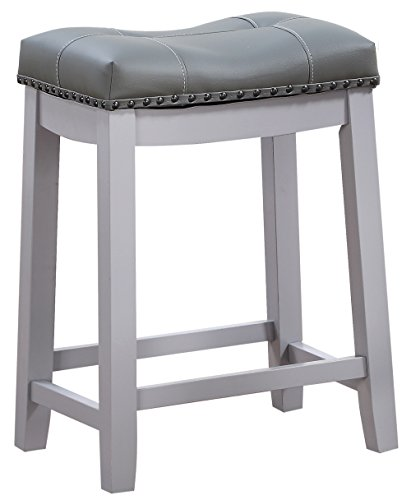 Angel Line 42418 75 Cambridge Bar Stools Gray Diningbee