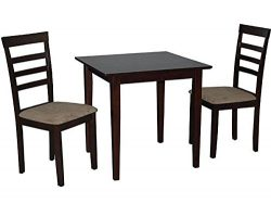 Simple Living Havana 3-piece Espresso Brown Wood Dining Set Small Kitchen Table and Chairs for a ...