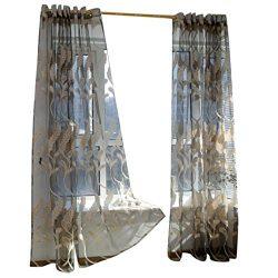 Hot Sale!!! Window Curtains,Jushye Wheat Sheer Curtain Tulle Window Treatment Voile Drape Valanc ...