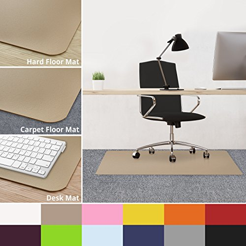casa pura office chair mats for carpeted floors 30 x48 carpet protector floor mat beige. Black Bedroom Furniture Sets. Home Design Ideas