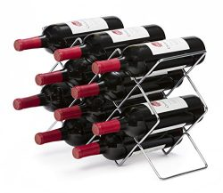 Mango Steam 10 Bottle Wine Rack (Silver)
