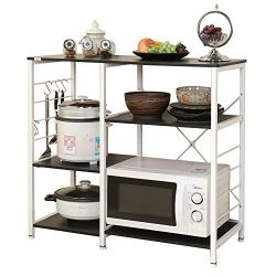 soges Multi-layers Kitchen Baker's Rack Utility Microwave Oven Stand Storage Cart Workstat ...