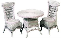 Spice Islands Classic Child's Tea Set (1 Table & 2 Chairs), Pink/White