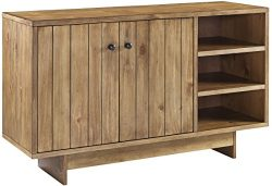 Crosley Furniture Roots Sideboard Living Room Storage – Natural