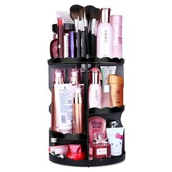 MOFIR Makeup Organizer 360 Degree Rotating, Adjustable Multi-Function Cosmetics Storage Box, Sma ...