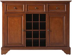 Crosley Furniture LaFayette Wine Buffet / Sideboard – Classic Cherry