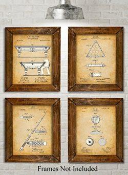Original Pool Billiards Patent Art Prints – Set of Four Photos (8×10) Unframed &#8211 ...
