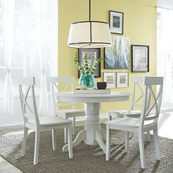 Home Styles 5177-318 5-Piece Dining Set, Antique White Finish