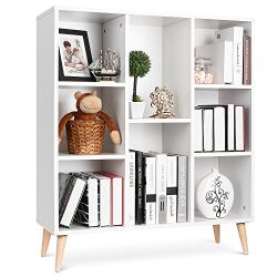 Homfa 8-Cube Storage Organizer Shelf Modern Bookcase DIY Display Shelving Irregular Cabinet for  ...