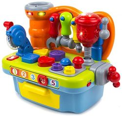Toy Workshop Playset for Kids with Sounds & Lights Engineering Pretend Play, Great Education ...